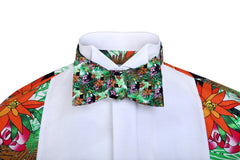 Jungle patterned bow tie
