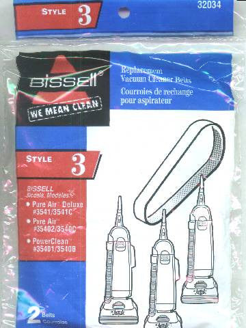 Bissell Style 3 & 5 Vacuum Belts # 32034