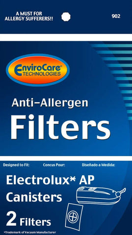 Electrolux AP Canister Vacuum Filters - 2 Pack (EnviroCare 902)