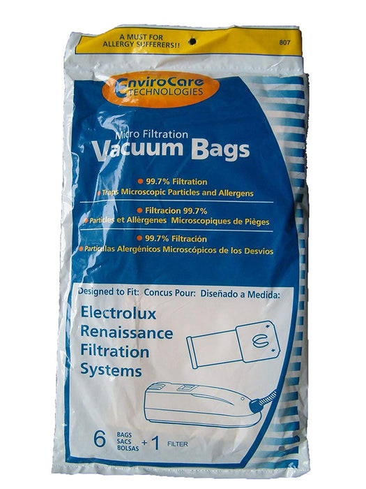 Electrolux Style R Vacuum Bags - 6 bags + 1 filter (Envirocare 807)