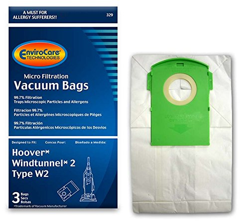 Hoover Windtunnel 2 Type W2 Bags Vacuum Bags - 3 Pack (EnviroCare 329)