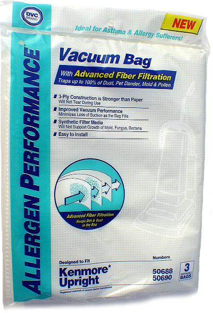 Kenmore Upright (3 pack) Allergen Performance Bag