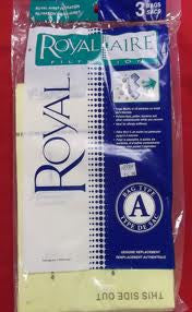 Royal Aire Filtration Type A Bags (3 pk)