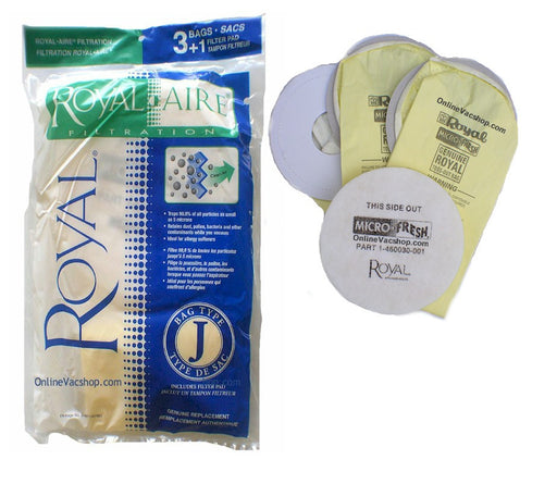 Royal Aire Filtration Type J Bags (3 pack)