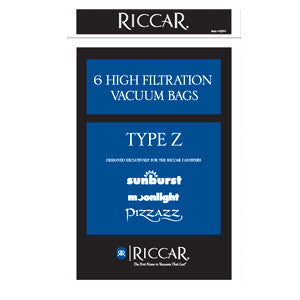 Riccar Vacuum Bags Paper Type Z Moonlight, Sunburst, Pizzazz RZP-6