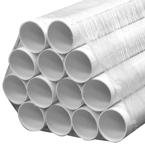 "PVC Central Vacuum Pipe 2"" OD Thin Wall 6928W 80ft Bundle"