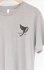Unisex High Flyin' Tri Blend T-shirt in Gray