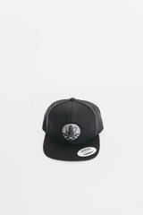 Blacked-Out Traditional Logo Snapback Hat - Black