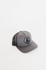 Blacked-Out Traditional Logo Snapback Hat (Gray)