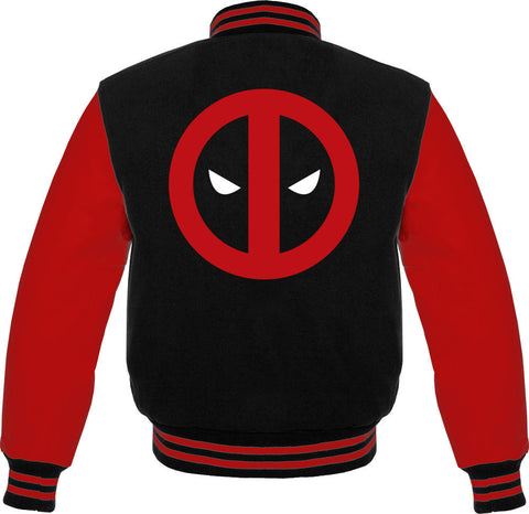 Deadpool Logo Men's Varsity Jacket