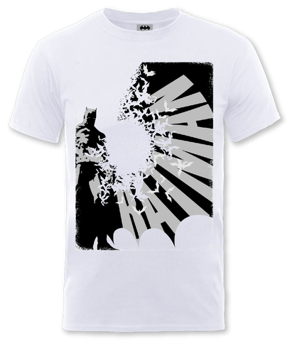 Batman - Bat Spread (WH) White T-Shirt - BAY 57