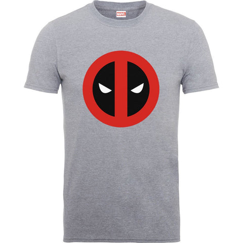 Deadpool Clean Logo Heather Grey Official Men's T-Shirt