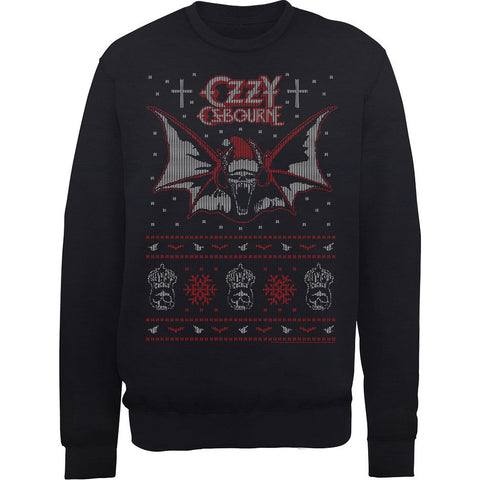 Ozzy Osbourne Bat Ugly Christmas Sweatshirt