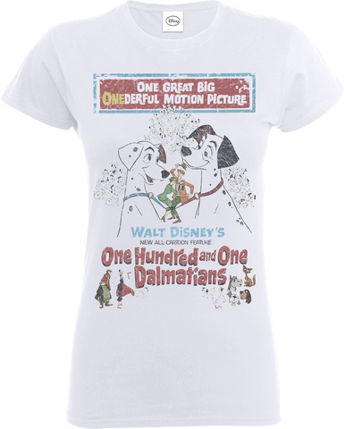 Disney 101 Dalmatians Poster White Women's T-Shirt