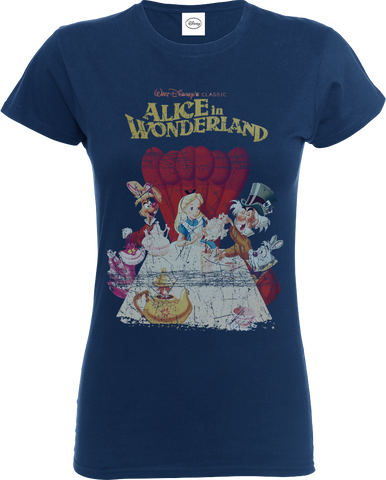 Disney Alice In Wonderland Retro Poster Women's T-Shirt