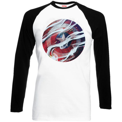 Captain America - Civil War Long Sleeve Smoke Shield T-Shirt - BAY 57