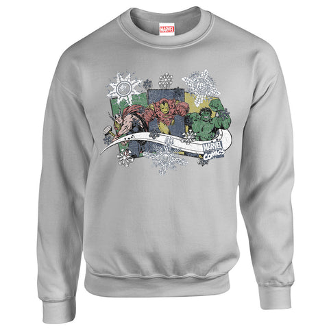 Marvel Thor Hulk Iron Man Women's Christmas Sweatshirt