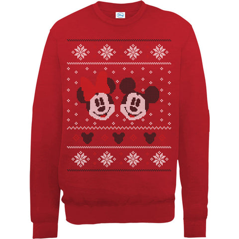 Mickey And Minnie Mouse Christmas Women's Sweatshirt