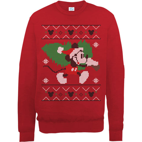 Mickey Mouse Christmas Tree Women's Sweatshirt