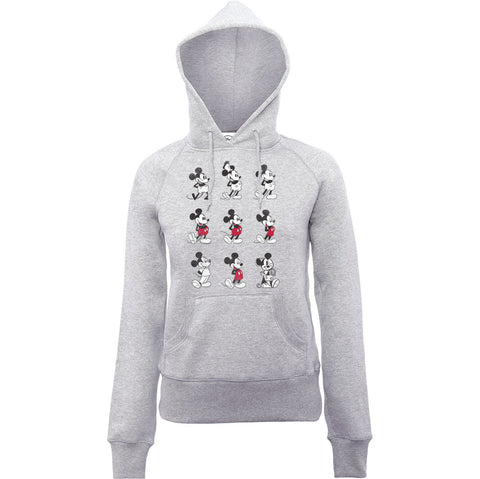 Disney Mickey Mouse Through Ages Women's Hoodie