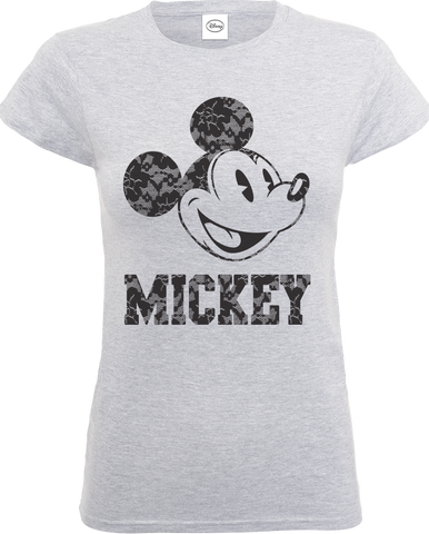 Disney Mickey Mouse Lace Print Women's T-Shirt