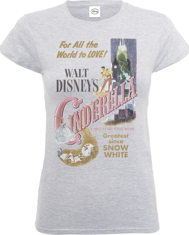 Disney Princess Cinderella Retro Poster Women's T-Shirt