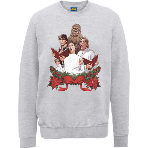Star Wars Singing Christmas Carols Women's Ugly Sweatshirt