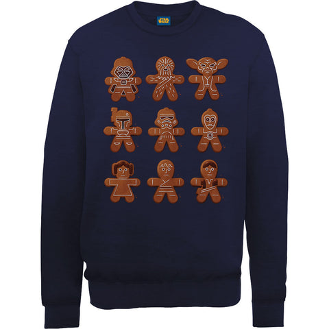 Star Wars Gingerbread Men Ugly Christmas Men's Sweatshirt