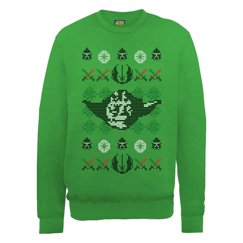 Star Wars Yoda Head Christmas Women's Sweatshirt