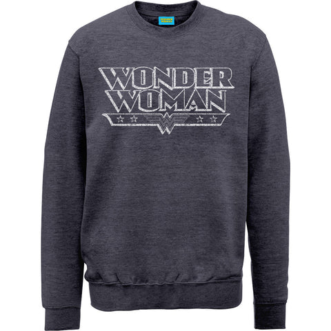Wonder Woman Crackle Logo Women's Sweatshirt