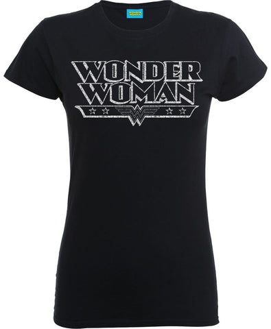 DC Wonder Woman Crackle Logo Women's T-Shirt
