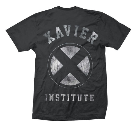 Marvel X-Men Xavier Institute Front & Back Print T-Shirt