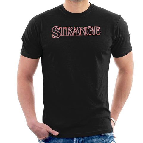 Strange Stranger Things Logo Men's T-Shirt
