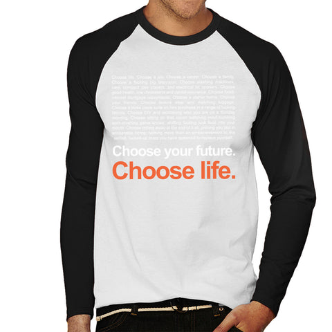 Trainspotting T2 Choose Life Quote Men's Baseball Long Sleeved T-Shirt