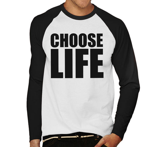 Trainspotting T2 Choose Life Big Men's Baseball Long Sleeved T-Shirt