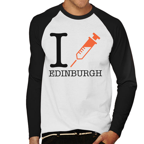 Trainspotting T2 I Heart Edinburgh Men's Baseball Long Sleeved T-Shirt