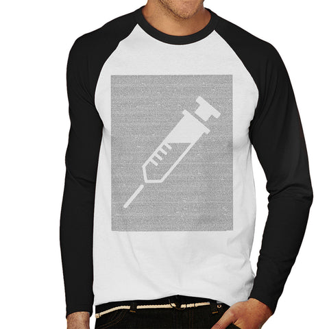 Trainspotting T2 Script Needle Silhouette Men's Baseball Long Sleeved T-Shirt