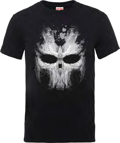 Captain America - Civil War Cross Bones Skull Black T-Shirt - BAY 57