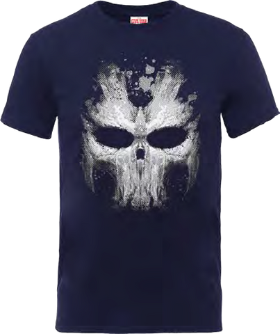 Captain America - Civil War Cross Bones Skull Navy T-Shirt - BAY 57