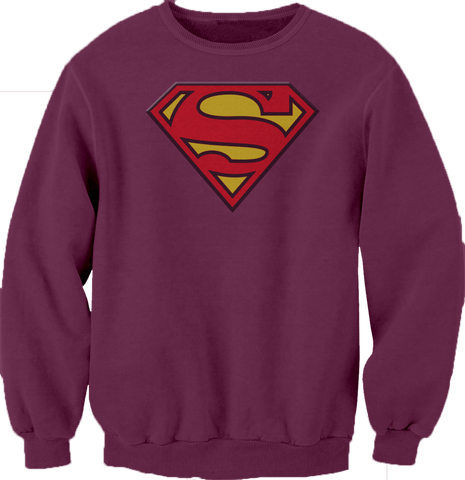 Superman Maroon Logo Sweatshirt