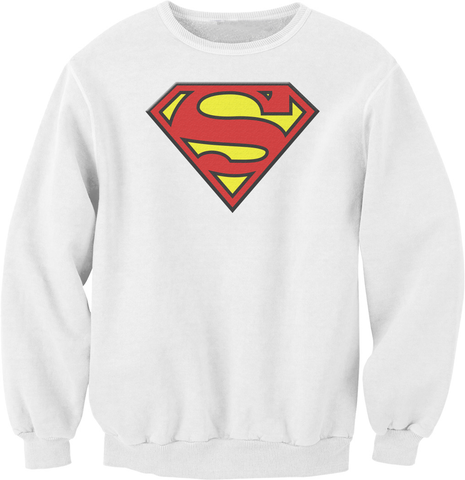 Superman White Logo Sweatshirt