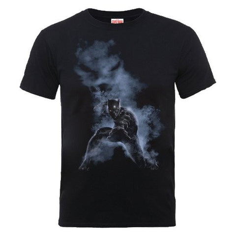 Captain America - Civil war Black Panther Smoke T-Shirt Black - BAY 57