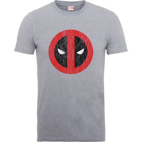 Deadpool Cracked Logo Heather Official Men's T-Shirt