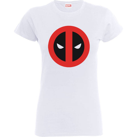 Deadpool Clean Logo White Women's Official T-Shirt