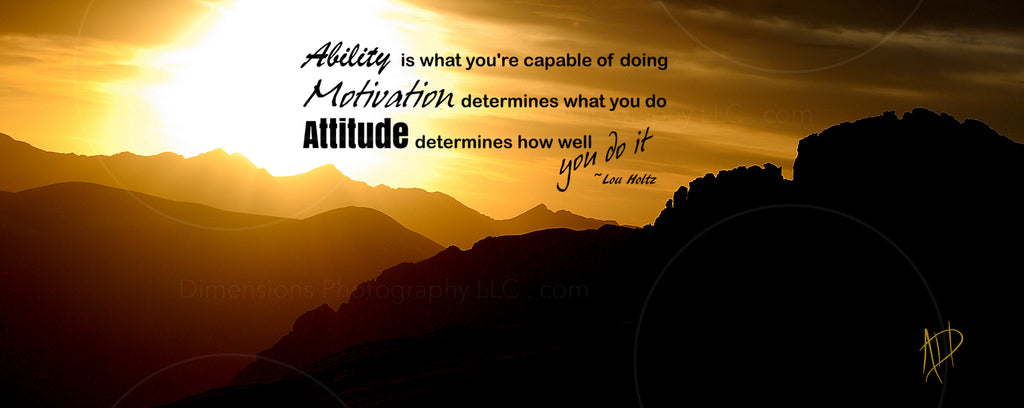The Ability The Motivation The Attitude