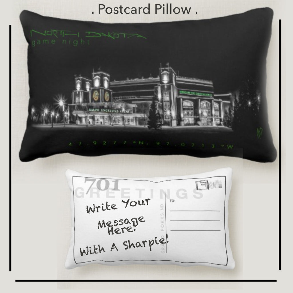 Game Night at the Ralph Postcard Pillow