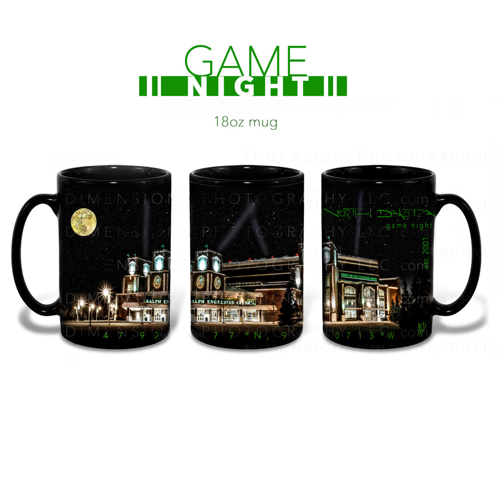 Game Night in North Dakota 18oz Mug