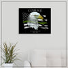 Military Green Line Flag . Custom