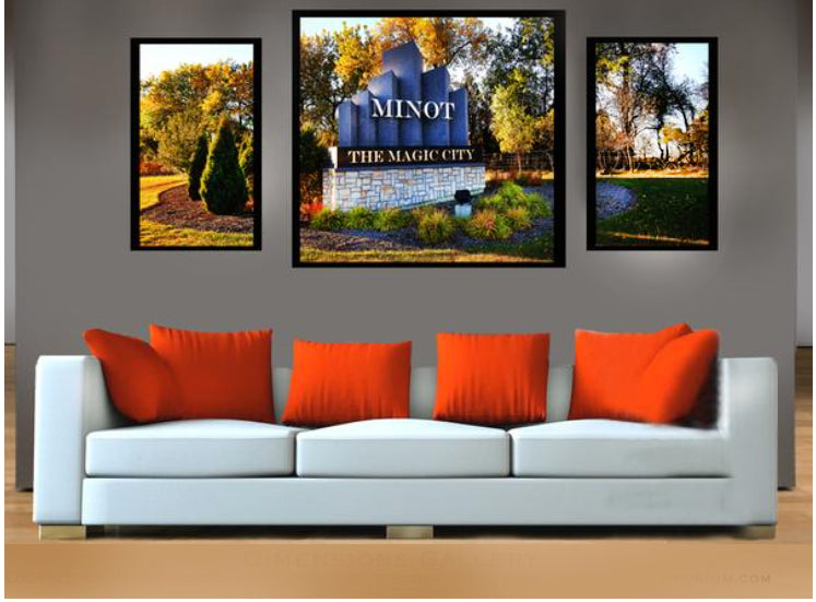 The Magic City  Minot ND   3 Piece Canvas