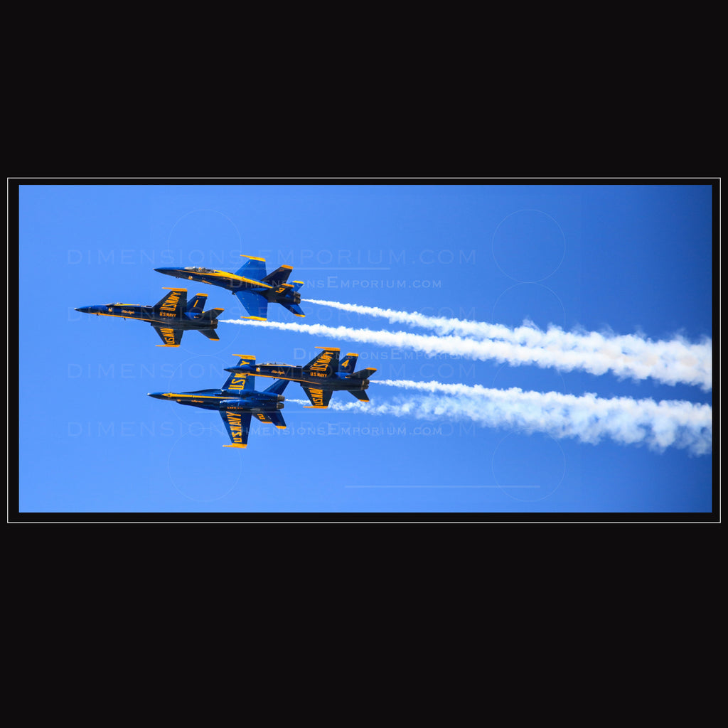 Quad Power of Blue Angels